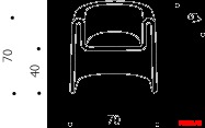Кресло Driade Melaina