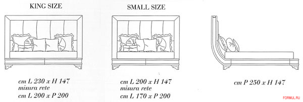 Кровать Carpani Mars Letto