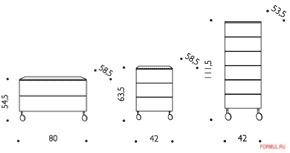 Тумба Driade Roller I,II,III