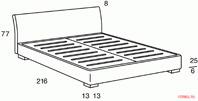 Кровать Orizzonti Figi