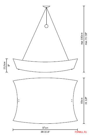 Люстра Fabbian Teorema D09