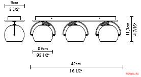 Светильник Fabbian Beluga Steel D57