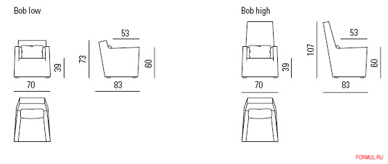 Кресло Busnelli Bob low & high