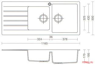 Кухонная мойка Schock Primus D-200
