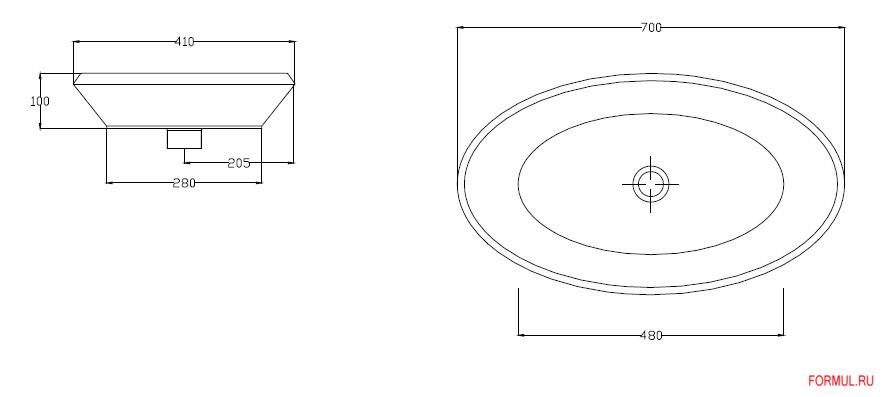 Раковина Hidra Oval