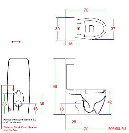 Унитаз Hidra art. LO 18
