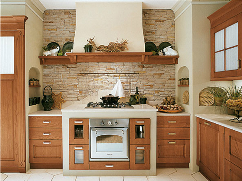 кухни итальянские из кирпича фото