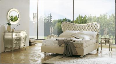Кровати в обивке