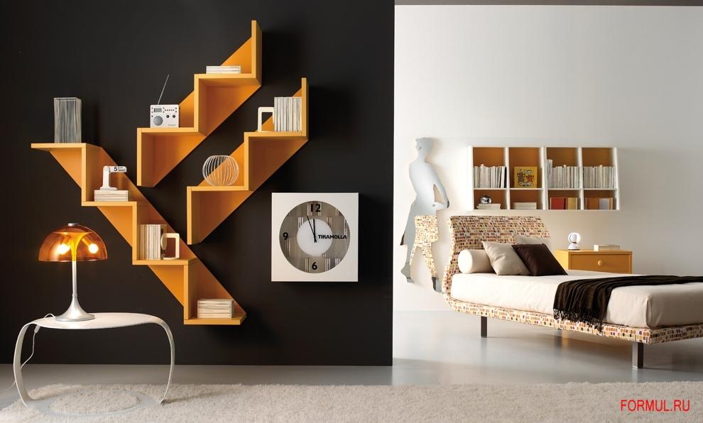 Дизайн комнаты полки