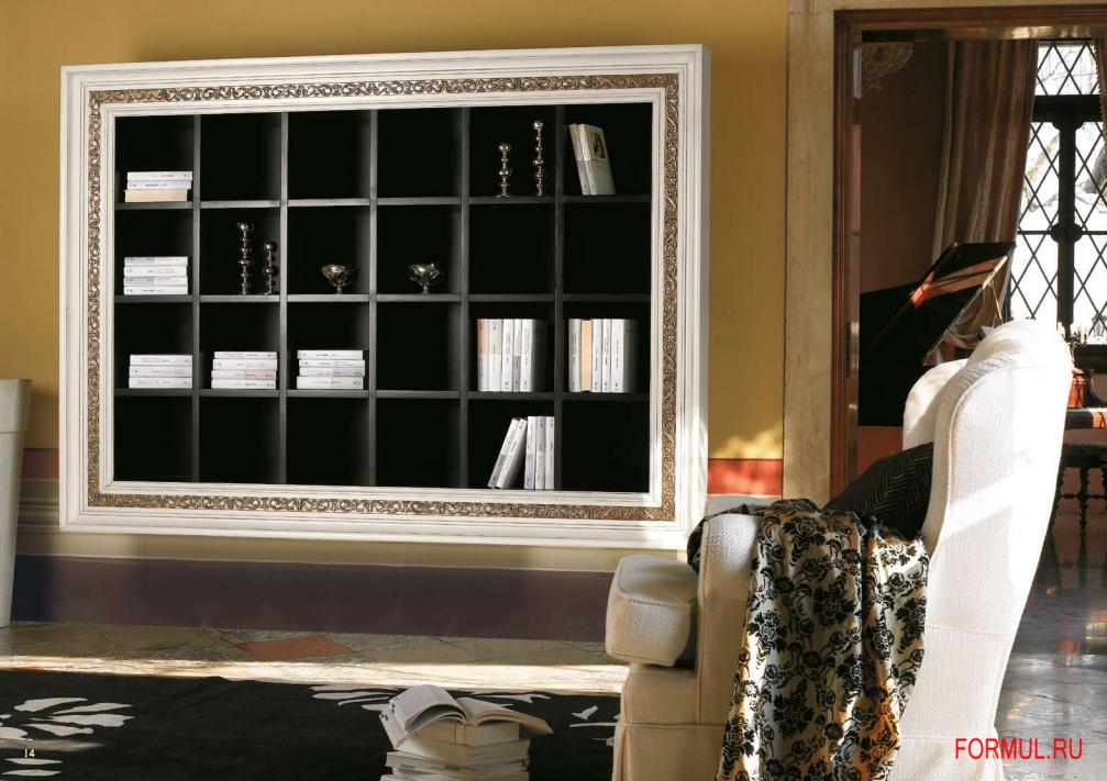 Книжный шкаф mirandola f3000. арт деко, гламур. lago di gard.