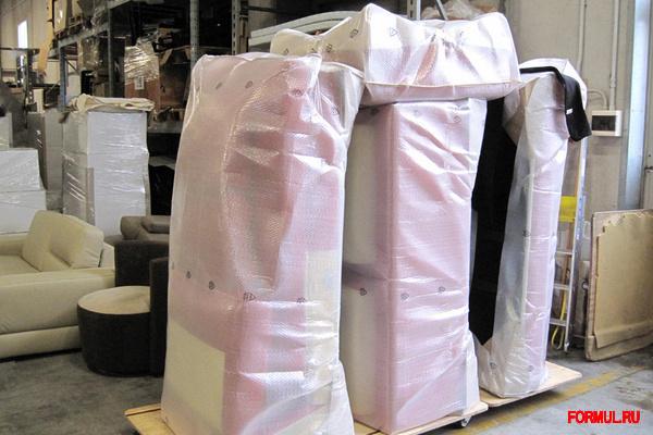 упаковка дивана