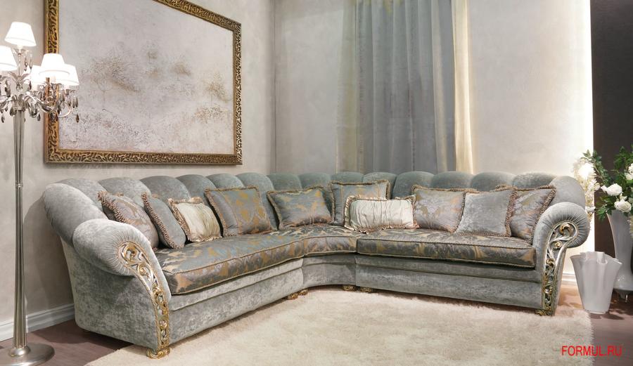 Дивный угловой диван из ценных пород дерева Althea, бренд Pigoli, Италия.