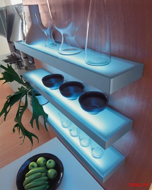 Полка светильник для кухни своими руками