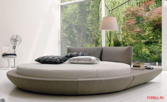 каркас для круглой кровати купить.  Круглые кровати - фото.